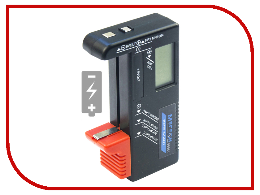 Аксессуар Мегеон для батареек 55061 пробник для осциллографа мегеон 25100