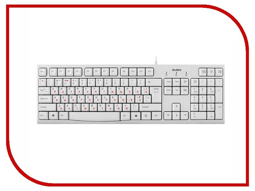 Клавиатура Sven KB-S300 Silver SV-016661 стоимость
