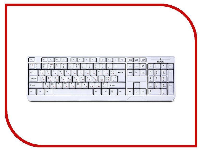 Клавиатура Sven KB-C2200W White SV-016340 стабилизатор sven avr slim 1000 lcd sv 012816