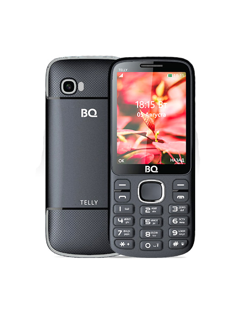 Сотовый телефон BQ 2808 Telly Black-Grey сотовый телефон bq 2808 telly white blue