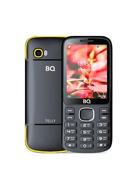 Сотовый телефон BQ 2808 Telly Black-Yellow мобильный телефон bq bq 2808 telly black grey