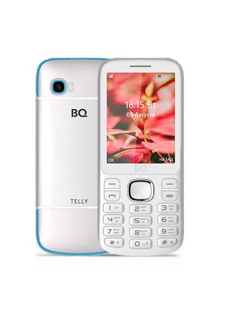 Сотовый телефон BQ 2808 Telly White-Blue мобильный телефон bq bq 2808 telly black grey