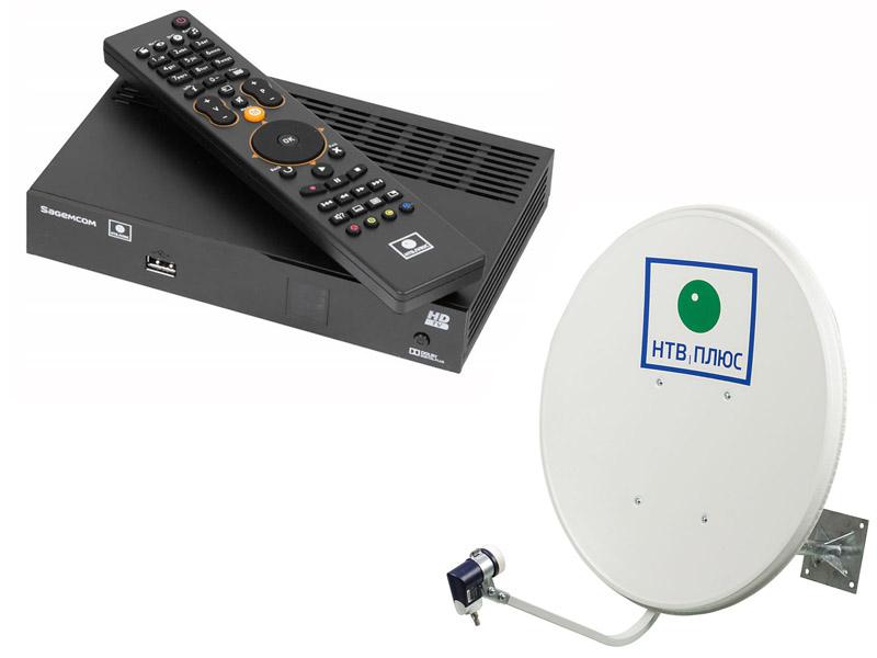 Комплект спутникового телевидения НТВ+ HD Simple 3 Старт с антенной