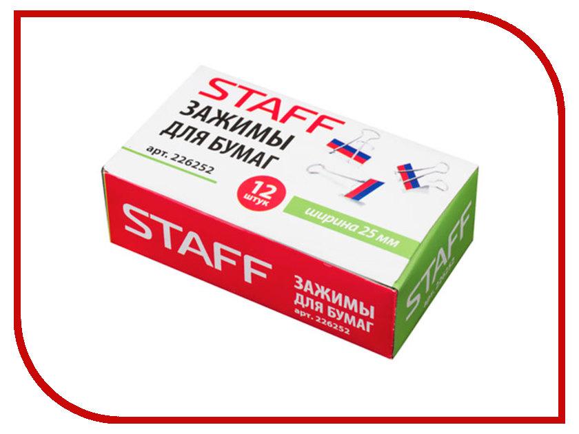 Зажимы для бумаг Staff 226252 laser staff