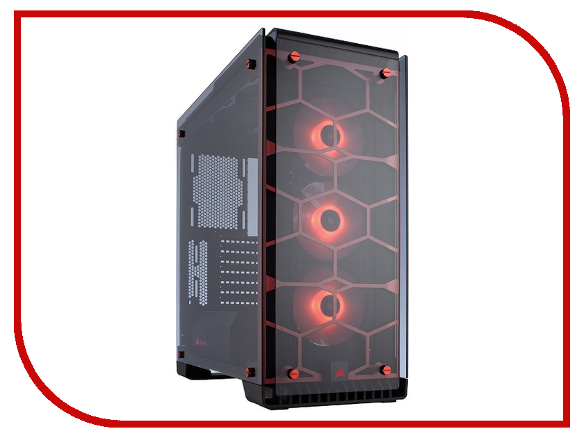 Корпус Corsair Crystal Series 570X RGB Red corsair