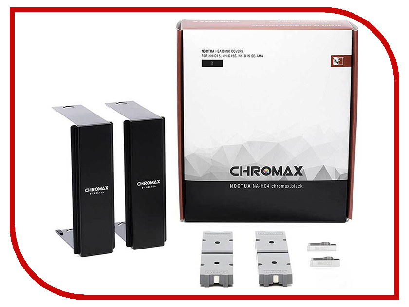 Декоративный кожух Noctua NA-HC4 Chromax Black for NH-D15 Series цена