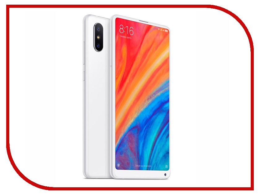 Сотовый телефон Xiaomi Mi Mix 2S 6Gb RAM 64Gb White for xiaomi mi mix 2s litchi texture soft tpu protective case black