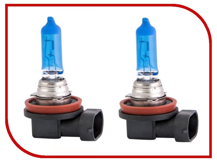 Лампа SVS White 5000K H11 12V 55W + W5W Ver.2.0 White 0200113000 (2 штуки) лампа skyline h1 12v 55w 3800k ultra white 2 штуки