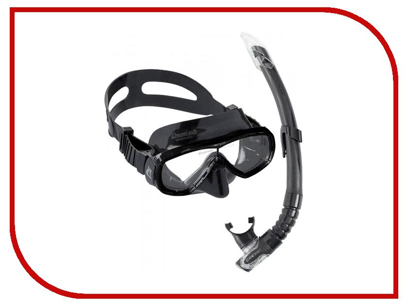 Набор маска + трубка Cressi Onda Marea Cobo Mexico Black Silicone/Black DM1010155 cressi marea and gamma snorkel combo