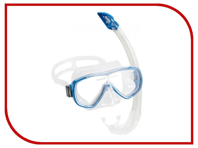 Набор маска + трубка Cressi Onda Marea Cobo Mexico Transparent Silicone/Blue DM1010152 cressi marea and gamma snorkel combo