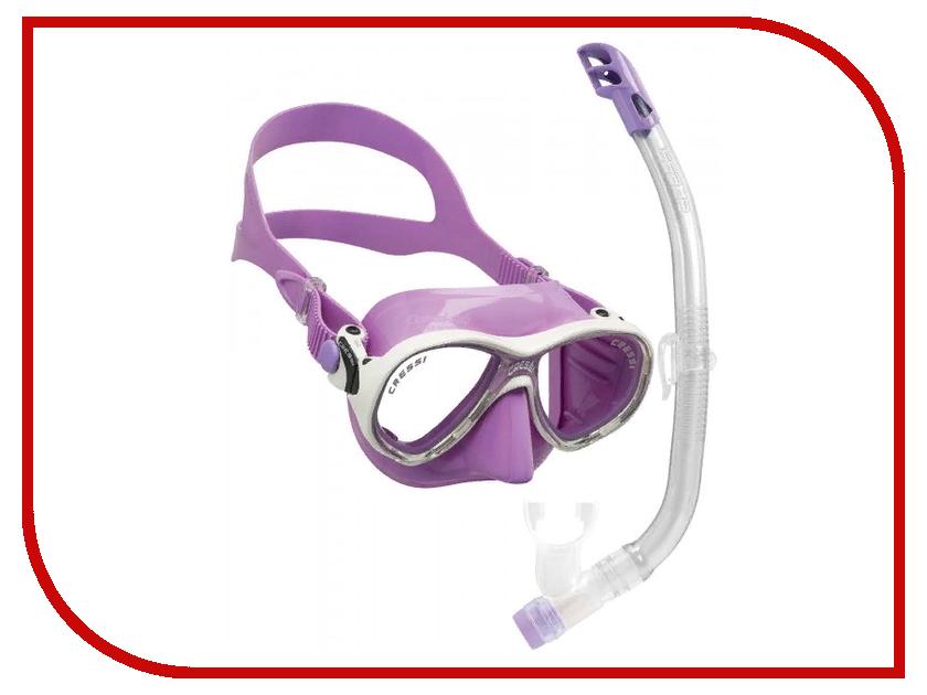 Набор маска + трубка Cressi Marea VIP JR Top Lilac Silicone/Lilac DM1000067 cressi marea and gamma snorkel combo