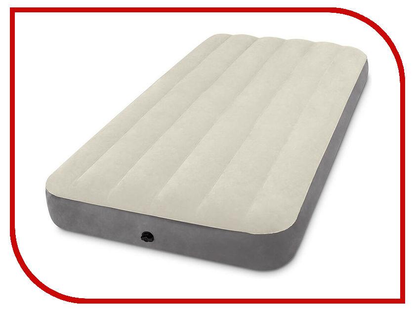 Надувной матрас Intex Deluxe Single-High 99x191x25cm 64101 deluxe single folding inflatable sofa beanbag bed