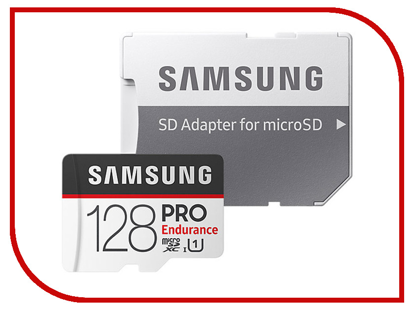 Карта памяти 128Gb - Samsung - Micro Secure Digital XC Pro Endurance UHS-I Class 10 SAM-MB-MJ128GA/RU с переходником под SD micro sd 256 mb