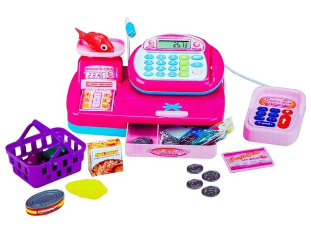 Кассовый аппарат со сканером и набором продуктов Shantou Gepai / Наша игрушка Y360822