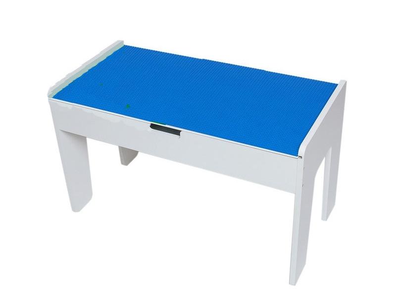 Игровой стол Sand Stol LEGO-стол МДФ + LEGO-полотно 40x80cm Blue ЛГ2