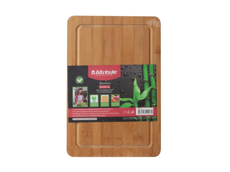 Доска разделочная Attribute Bamboo 20x30cm ABX151