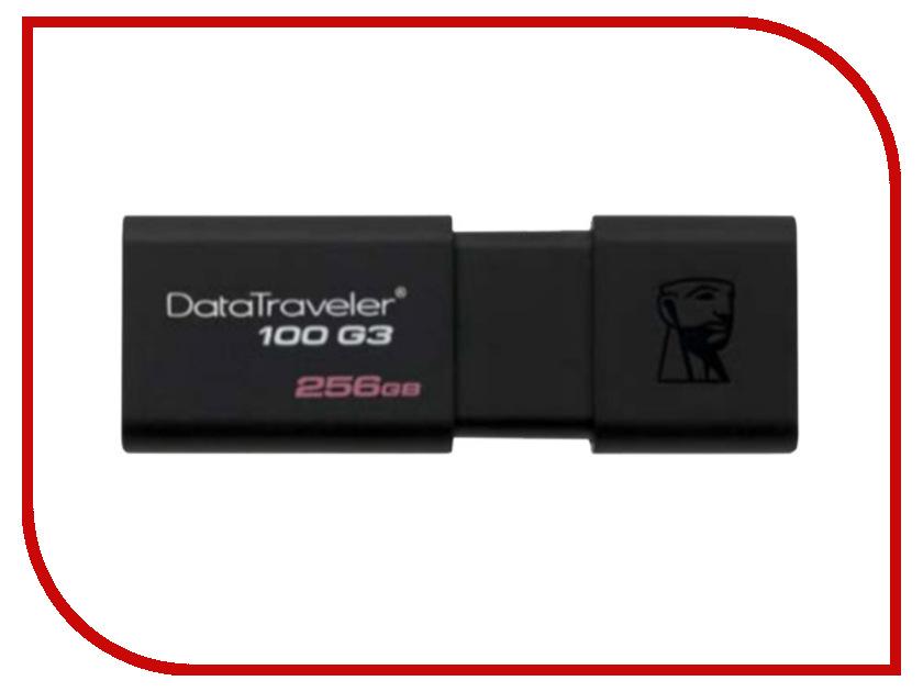 USB Flash Drive 256Gb - Kingston FlashDrive Data Traveler 100 G3 DT100G3/256GB archpole скамья metalframe x3