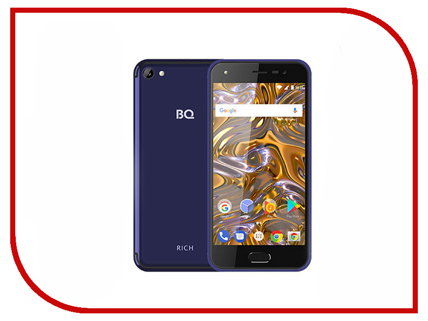 Сотовый телефон BQ BQ-5012L Rich Dark Blue сотовый телефон bq 5009l trend dark blue