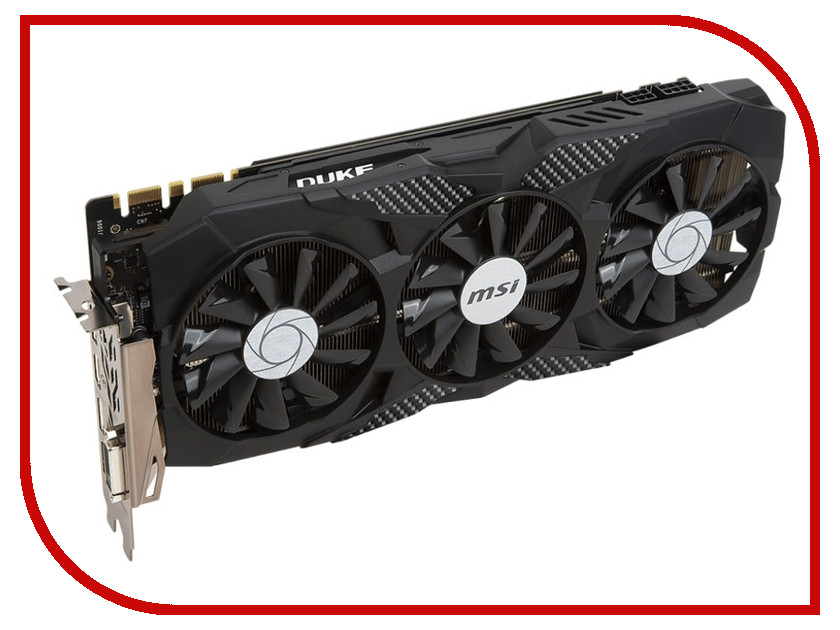 Видеокарта MSI GeForce GTX 1070 Ti 1607Mhz PCI-E 3.0 8192Mb 8008Mhz 256 bit DVI 3xDP HDMI HDCP GTX 1070 Ti DUKE 8G