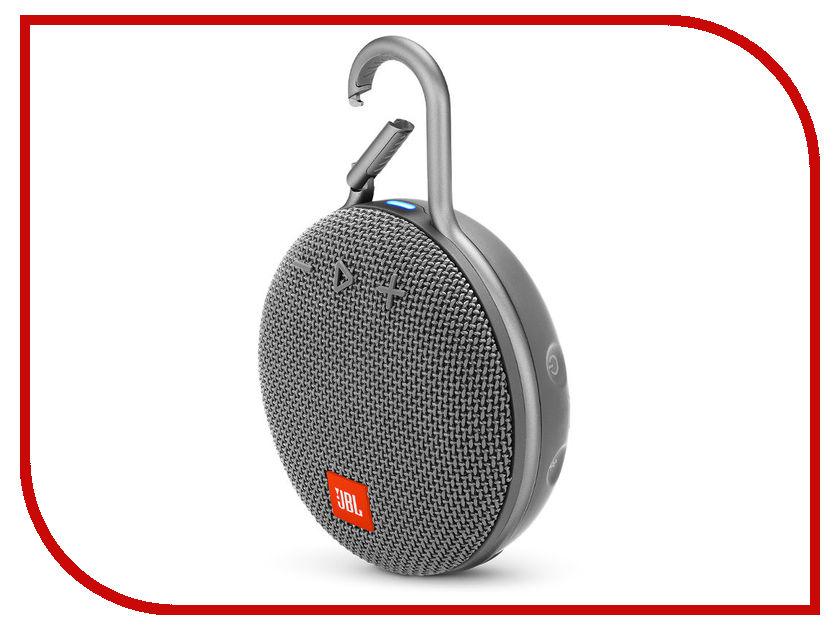 Колонка JBL Clip 3 Grey набор для уборки vileda ultramat microfibre цвет черный красный 2 предмета