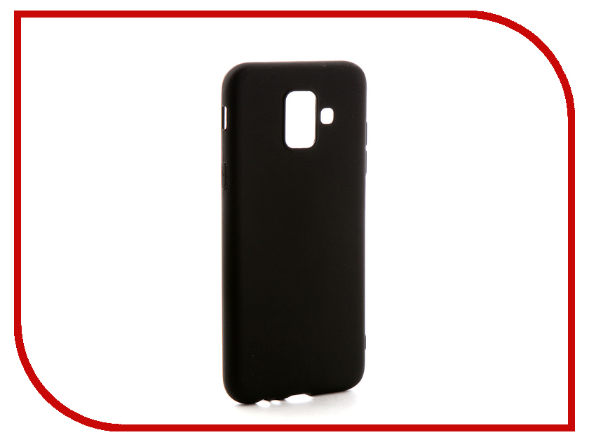 Аксессуар Чехол-накладка для Samsung Galaxy A6 2018 Gecko Silicone Black S-GESKA-SAM-A6-2018-BL mooncase soft silicone gel side flip pouch hard shell back чехол для samsung galaxy s6 black