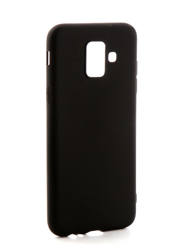 купить Аксессуар Чехол-накладка Gecko для Samsung Galaxy A6 2018 Silicone Black S-GESKA-SAM-A6-2018-BL онлайн