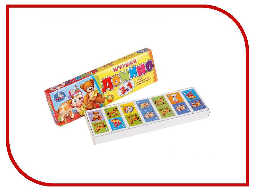 Настольная игра Умка Домино Игрушки 4690590092569 настольная игра правильные игрушки загадка леонардо 10 01 07