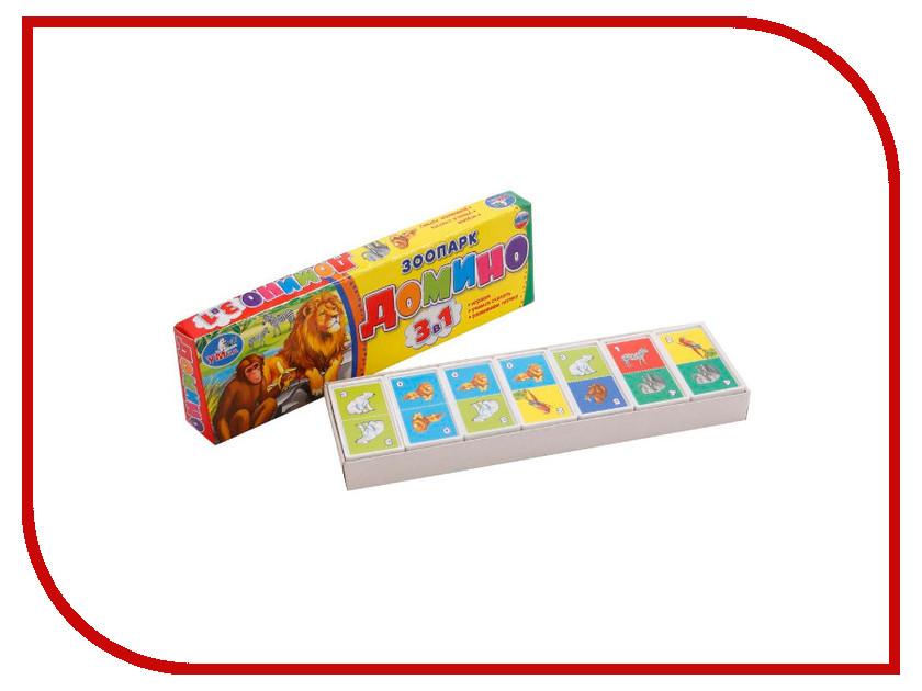 Настольная игра Умка Домино Зоопарк 4690590112106 настольная игра умка домино машинки 3в1 4690590112137