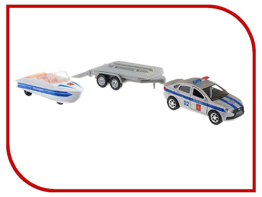 Игрушка Технопарк Lada Vesta Полиция + Лодка SB-17-57WB игрушка технопарк lada vesta полиция мотоцикл sb 17 56wb