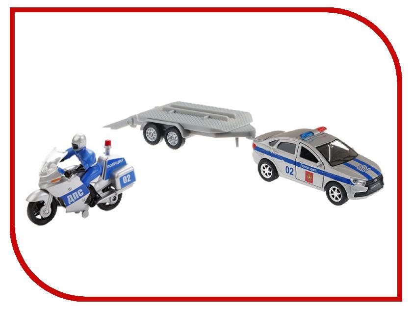 Игрушка Технопарк Lada Vesta Полиция + Мотоцикл SB-17-56WB