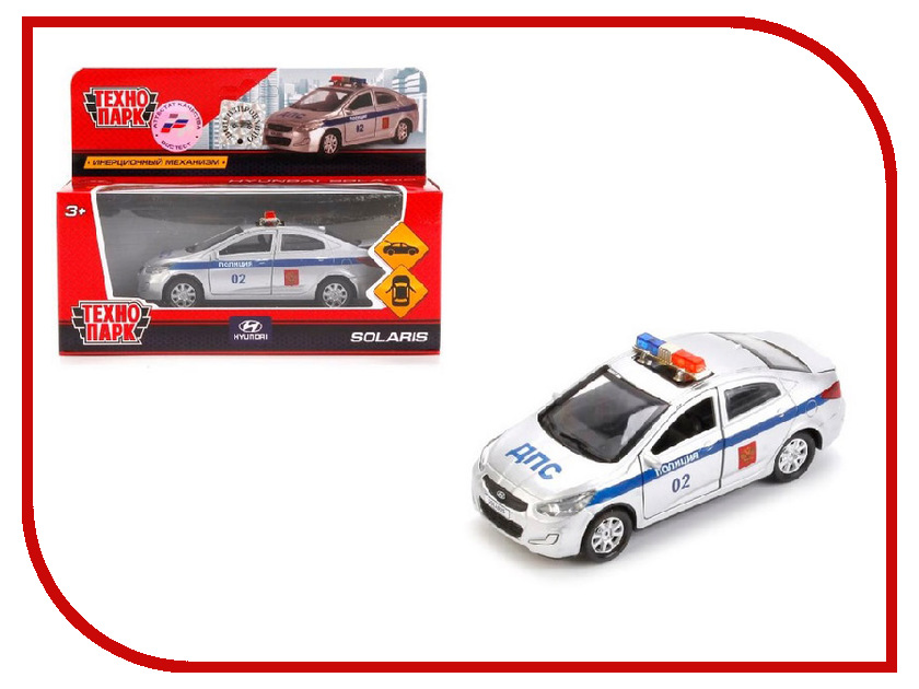 Игрушка Технопарк Hyundai Solaris Полиция SOLARIS-POLICE машина технопарк полиция outlander police