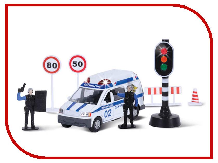 Игрушка Технопарк Полиция со светофором CT10-060-1 технопарк технопарк набор милиция со светофором и фигурками