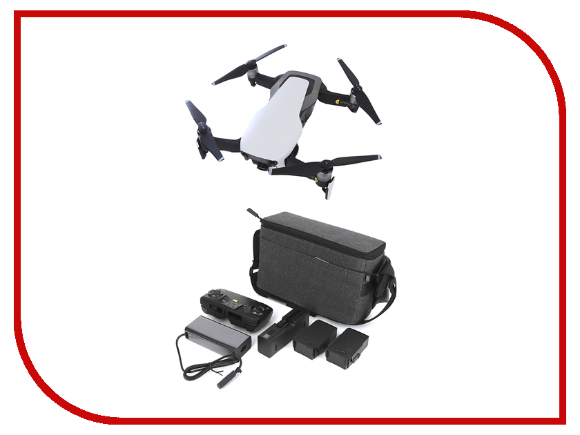Квадрокоптер DJI Mavic Air Fly More Combo Arctic White квадрокоптер dji spark fly more combo красный