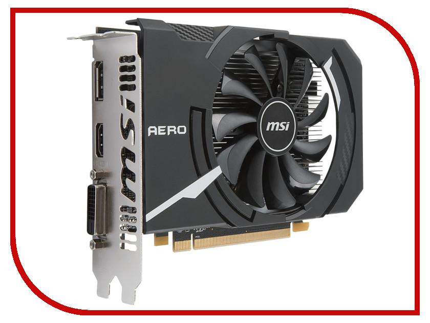 Видеокарта MSI Radeon RX 550 1203Mhz PCI-E 3.0 4096Mb 6000Mhz 128 bit DVI DP HDMI HDCP RX 550 AERO ITX 4G OC видеокарта msi rx 550 4gt lp oc rx 550 4гб gddr5 retail