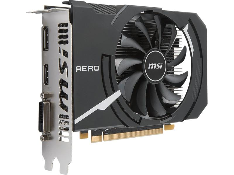 Видеокарта MSI Radeon RX 550 1203Mhz PCI-E 3.0 4096Mb 6000Mhz 128 bit DVI DP HDMI HDCP RX 550 AERO ITX 4G OC