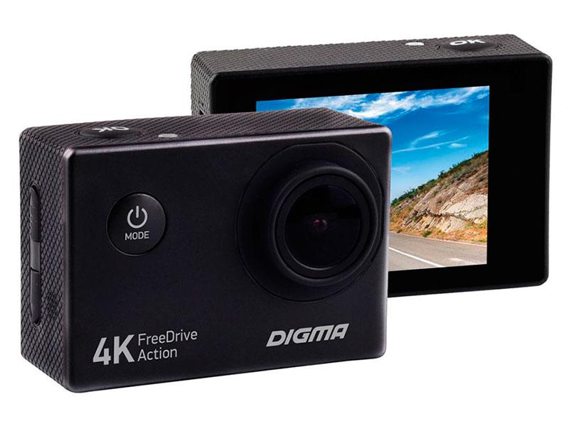 Видеорегистратор Digma FreeDrive Action 4K видеорегистратор digma freedrive action 4k wifi [fdac4w]