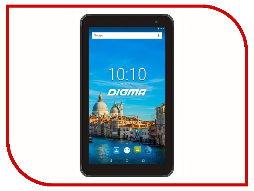 Zakazat.ru: Планшет Digma Optima 7017N 3G Black (MediaTek MT8321 1.3GHz/2048Mb/16Gb/3G/Wi-Fi/Bluetooth/GPS/Cam/7.0/1024x600/Android)