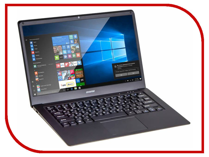 Ноутбук Digma CITI E400 Black ES4003EW (Intel Atom x5-Z8350 1.44 GHz/4096Mb/32Gb/Intel HD Graphics/Wi-Fi/Bluetooth/Cam/14.1/1920x1080/Windows 10) ноутбук irbis nb25 black intel atom 3735f 1 3 ghz 2048mb 32gb wi fi bluetooth cam 10 1 1024x600 windows 10