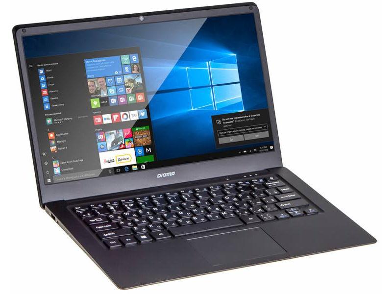 Ноутбук Digma CITI E400 Black ES4003EW (Intel Atom x5-Z8350 1.44 GHz/4096Mb/32Gb/Intel HD Graphics/Wi-Fi/Bluetooth/Cam/14.1/1920x1080/Windows 10) ноутбук digma citi e400 es4003ew 14 1 черный