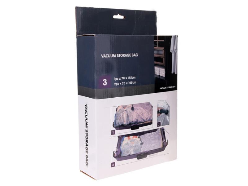 цена на Вакуумные пакеты с вешалкой Bradex 3шт TD 0358