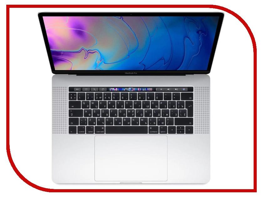 Ноутбук APPLE MacBook Pro 15 MR962RU/A Silver (Intel Core i7 2.2 GHz/16384Mb/256Gb SSD/AMD Radeon Pro 555X 4096Mb/Wi-Fi/Cam/15/Mac OS)