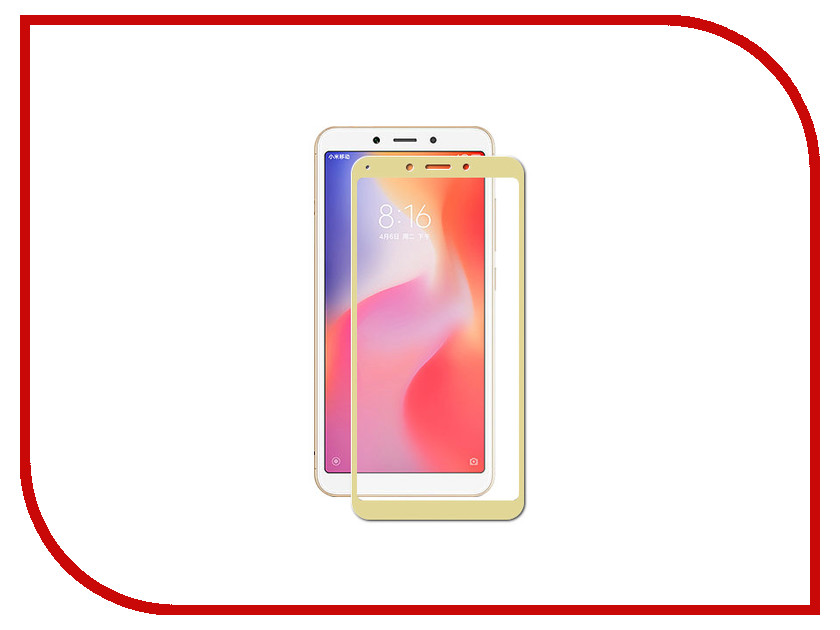 Аксессуар Защитное стекло для Xiaomi Redmi 6 / 6A Zibelino TG Full Screen Gold ZTG-FS-XMI-RDM-6-GLD аксессуар защитное стекло для samsung sm j730f galaxy j7 2017 zibelino tg full screen gold 0 33mm 2 5d ztg fs sam j730f gld