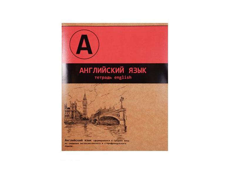 Тетрадь Феникс+ A5 48 листов Английский язык 44352 тетрадь феникс цветные собачки 46966 48 листов