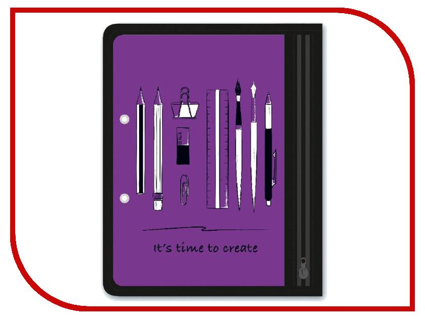 Папка для канцелярских принадлежностей Феникс+ Канцелярия A5 25.5x20.5cm Violet 46710 канцелярия spiegelburg блокнот pferdefreunde 11008