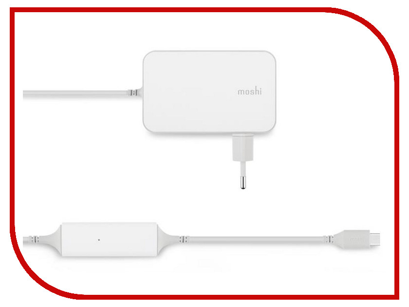 Зарядное устройство Moshi ProGeo USB-C Laptop Charge White 99MO022147 50pcs micro usb 3 0 male to usb c usb 3 1 type c female extension data cable for macbook tablet 10cm by fedex