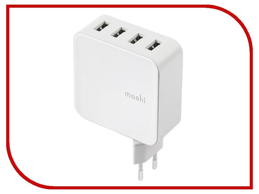 Зарядное устройство Moshi 4xUSB Wall Charger White 99MO022151