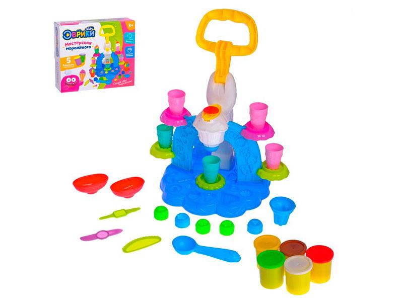 Набор для лепки Эврики Набор для игры с пластилином Фабрика мороженого 2800394 цена