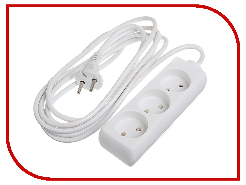 Удлинитель Luazon 3 Sockets 3m 2791273 удлинитель tundra 3 sockets 3m 2276457