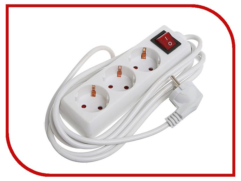 Удлинитель Luazon 3 Sockets 3m 2791281 удлинитель makel 3 sockets 2m mgp132