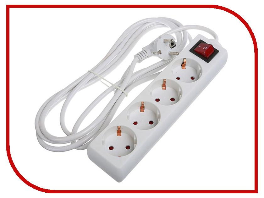 Удлинитель Luazon 4 Sockets 3m 2791285 удлинитель supra 7 sockets 3m light gray sf 7 es 3m